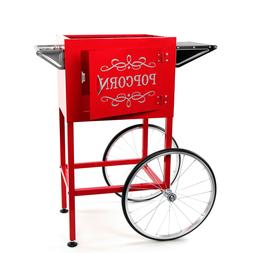 popcorn machine cart trolley section red