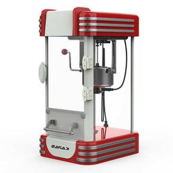 KAPAS Popcorn Machine, Red Tabletop Popcorn Popper Maker wit