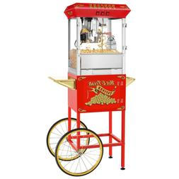 Popcorn Machine With Cart Stainless Steel Kettle Maker Popco