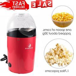 Popcorn Maker, 1200W Power Hot Air Popcorn Popper No Oil Nee