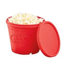Popcorn Maker Bucket Silicone Microwave DIY Snack Bucket Fam