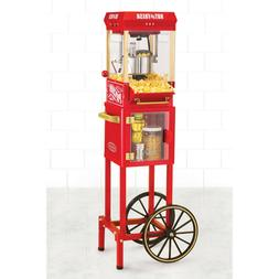 Popcorn Maker Cart Kettle Stand Popper Air Hot Machine Nosta