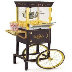 Popcorn Maker Cart Kettle Stand Popper Air Hot Machine Nosta