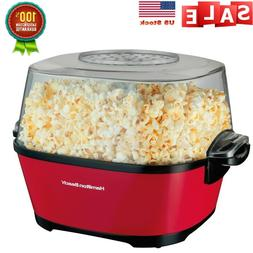 Popcorn Maker, Hot Oil Popcorn Popper Red