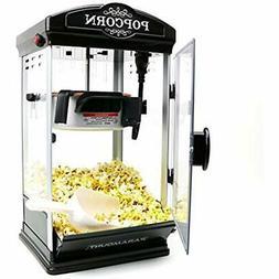 Popcorn Maker Machine - New 8oz Capacity Hot-Oil Popper Colo
