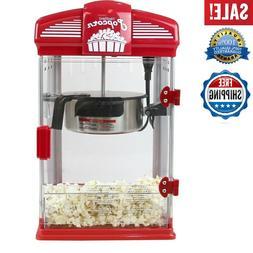 Popcorn Maker Machine,Theater Crazy Popcorn Machine 8oz Capa