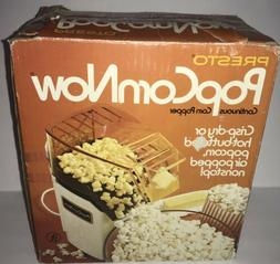 PRESTO Popcorn Now HOT AIR POPPER 1150 Watts 04810 New Old S