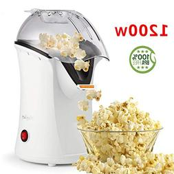 Popcorn Popper, Hot Air Popcorn Maker, 1200W Popcorn Machine
