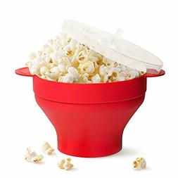Popcorn Popper Collapsible Bowl Maker Microwave Silicone Hot