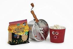 Wabash Valley Farms Popcorn Popper Kit, Regular, Silver