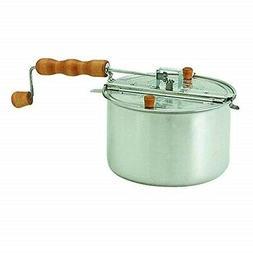 Popcorn Popper  Whirley-Pop Stovetop 6 quart Sturdy Alum Pan