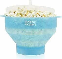 Colonel Popper Popcorn Popper Silicone Microwave Popcorn Mak