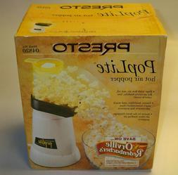 PRESTO PopLite Hot Air Popcorn Popper Stock # 04820 / New In