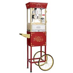 Red 6086 Matinee Movie 8-oz Antique Popcorn Machine and Cart