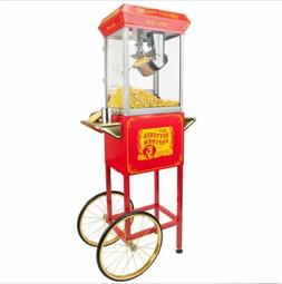 Red Carnival Theater Home Style 8 oz Vintage Popcorn Popper