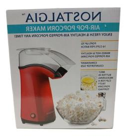 Red Electric 16-Cup Air-Pop Popcorn Maker Countertop Healthy