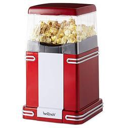 VonShef Retro Electric Hot Air Popcorn Maker Popcorn Popper