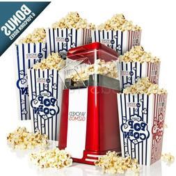 Retro Popcorn Maker Machine Popper Hot Air Electric Cinema R