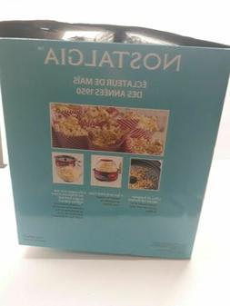 Nostalgia Electrics Retro Series Stirring Popcorn Maker, Red