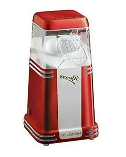 Nostalgia 8-Cup Hot Air Popcorn Maker Countertop Oil-Free Po