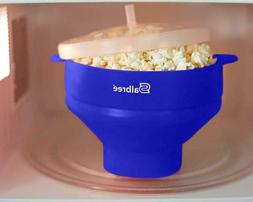 Salbree Collapsible Silicone Microwave Popcorn Popper, Turqu