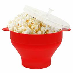 BPA Collapsible Silicone Microwave Popcorn Popper Maker with