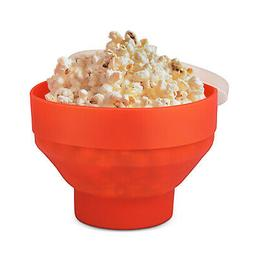 silicone microwave popcorn popper maker with lid