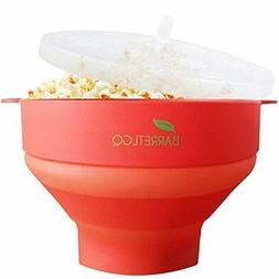 Silicone Microwave Popcorn Popper with Lid for Home Hot Air