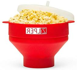 Zilper Silicone Popcorn Maker for Microwave  - Collapsible P