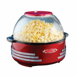 Nostalgia SP300RETRORED 6-Quart Stirring Popcorn Popper red