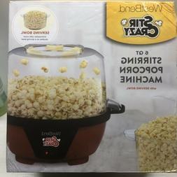 Stir Crazy West Bend 6QT Electric Stirring Popcorn Popper NI