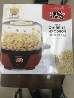 West Bend Stir Crazy Electric Hot Oil Popcorn Popper Red 825