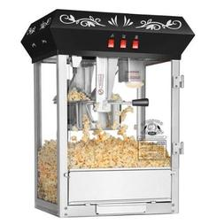 Superior Popcorn Black Countertop Movie Night Popcorn Popper
