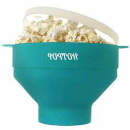 the original hotpop microwave popcorn popper silicone
