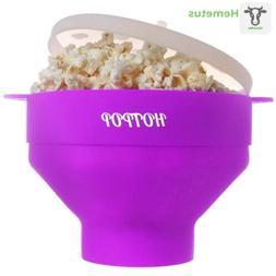 The Original HOTPOP Microwave Popcorn Popper, Silicone Maker