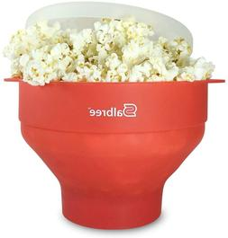 The Original Salbree Microwave Popcorn Popper with Lid, Sili