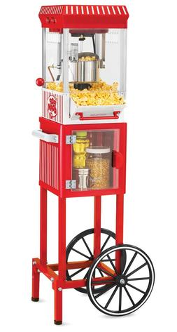 POPCORN CART MACHINE Popper Maker Vintage Popper Red Stand M