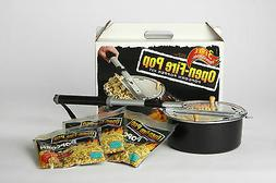 Whirley Open Camp Fire Popcorn Popper For Fire Pit With Popp