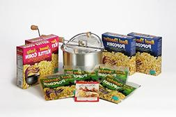Whirley-Pop Stovetop Popcorn Popper with 20 Popcorn Kits –